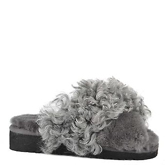 Shepherd of Sweden Millie Asphalt Fluffy Slipper