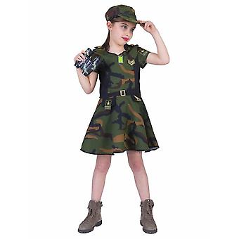 Armeija tyttö lasten puku sotilas puku Carnival Carnival Heroine Warrior Kids