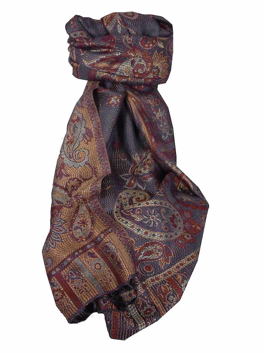 Mens Jamawar Premium Silk Scarf Pattern 3619 by Pashmina & Silk