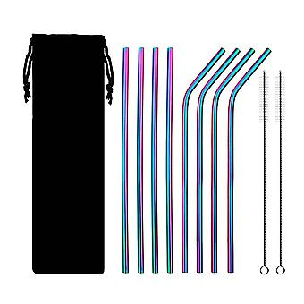 Straw reusable 8 pieces + 2 brushes good for the environment