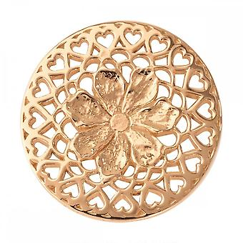 Nikki Lissoni Flower With Love Medium Gold Plated Coin C1013GM