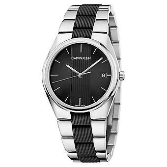 Calvin Klein K9E211B1 Contrast Two Tone Wristwatch