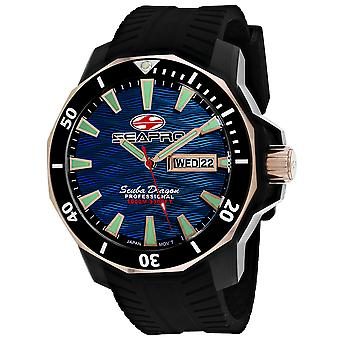 Seapro Men-apos;s Scuba Dragon Diver Limited Edition 1000 Meters Blue Dial Watch - SP8322