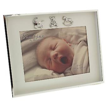 Juliana Bambino maisema 3 kuvaketta täysihoitolainen valokuvakehys 5 x 7 - hopea