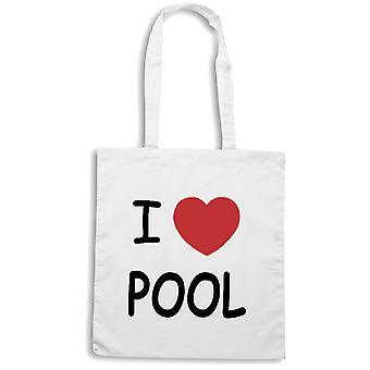 White shopper bag wtc1257 i heart pools