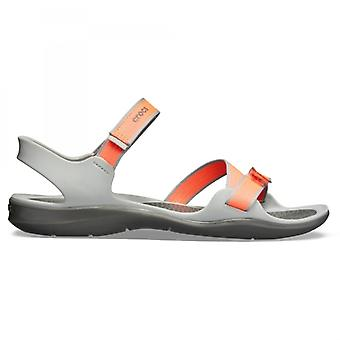 Crocs 204804 Swiftwater Webbing Sandals Sandales Bright Coral/light Grey