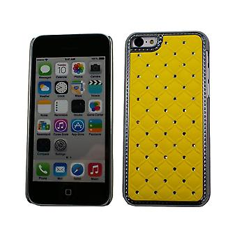 Hull For iPhone 5c With Strass On Yellow Background