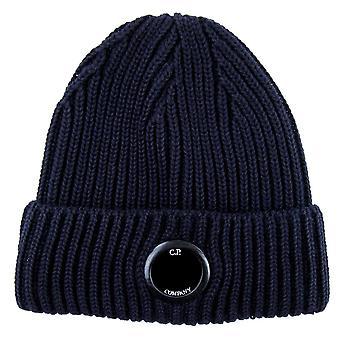 CP Company Extra Fine Merino Wool Lens Winter Beanie Navy 888