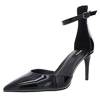 DKNY naisten kiilto nahka nilkka hihna pumput musta 6,5 Medium (B, M)