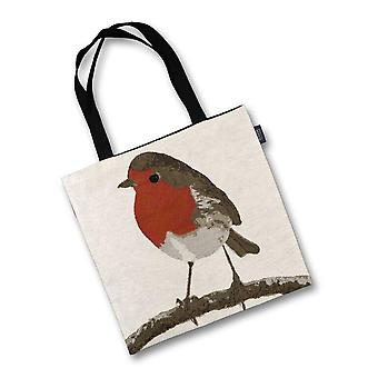 Mcalister textiles robin bird tapestry tote bag