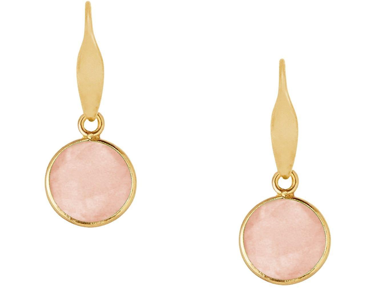 Gemshine Ohrringe Rosenquarz Edelstein Tropfen 925 Silber, vergoldet oder rose