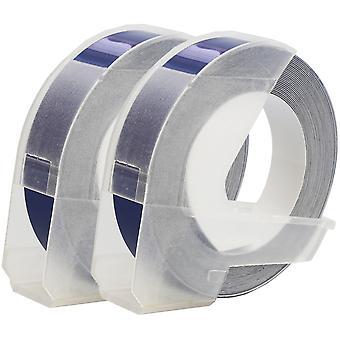 Prestige kaseta™ s0898140 biały na niebieskich taśmach wytłaczających (9mm x 3m) kompatybilnych z dymo s0717930 omega home & s0717900 junior embosserów