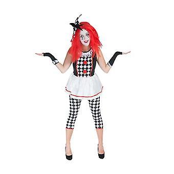 Clown jester fool ladies costume