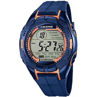 Calypso watch watches K5627-9 - watch Silicone Blue Man