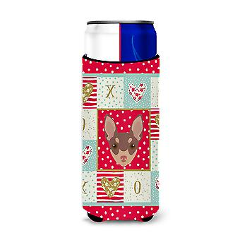 Toy Fox Terrier Michelob Ultra Hugger for slim cans