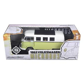 1962 Volkswagen Microbus Olive Green Limited à 300pc 1/18 Diecast Model Car par Greenlight