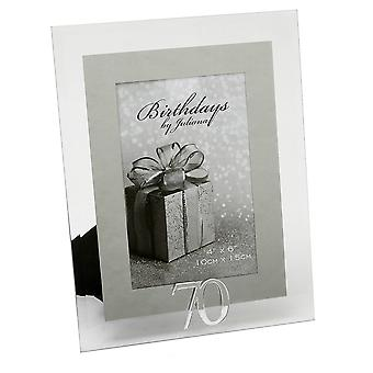 Impressions By Juliana 70th Birthday Glass And Mirror 4 X 6 Photo Frame