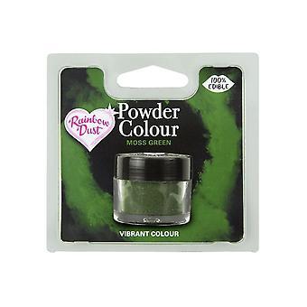 Rainbow Polvo comestible Mate Polvo Polvo Color 4g Moss Verde