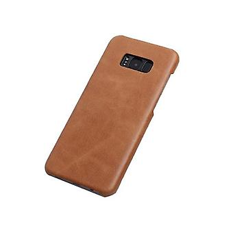 Pour Samsung Galaxy S8 PLUS Case,Elegant Genuine Protective Leather Cover,Brown