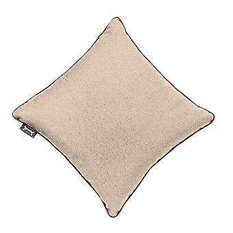 Latte 24-quot; LARGE Wool Feel Soft Fabric Piped Cushions Ready Filled with Pads Latte 24