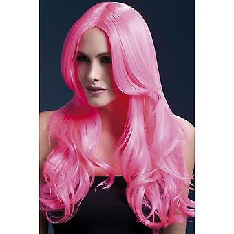 Smiffy's Fever Khloe Wig - Neon Pink