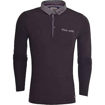 Brave Soul mens hoge kwaliteit Û ÷ lange SleevedÛ ÷ katoen Pique Polo T-shirt polokraag top