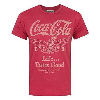 Junk Food Coca Cola Life tem gosto de boa camiseta masculina'