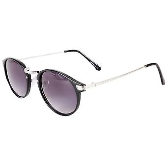Jeepers Peepers Classic Round Sunglasses - Black/Silver