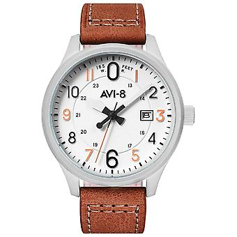 Hawker Hurricane Japanese Quartz Analog Man Watch with AV-4053-0A Cowskin Bracelet