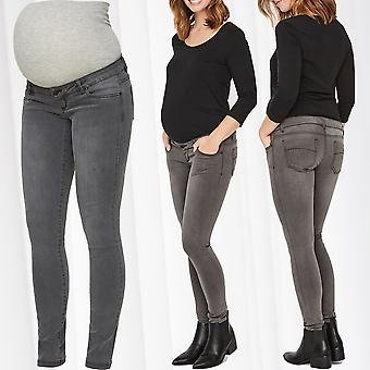 Mamalicious Maternity Jeans Pregnancy Skinny Maternity Wear Belly Casual Baby