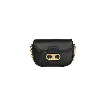 Céline 191743bun38no Women's Black Leather Shoulder Bag