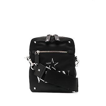 Valentino Garavani Ty2b0662mfg0no Men's Black Polyester Messenger Bag