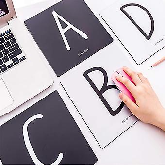 Letter print square mouse pad 1pc