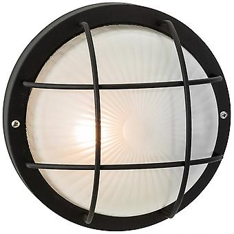 Firstlight Marina Vintage Black Outdoor Open Cage Wall Light
