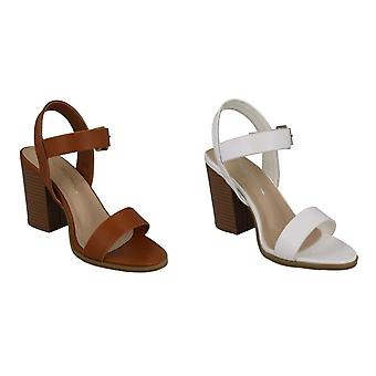 Anne Michelle Womens/Ladies Wide Fitting High Stack Sandals