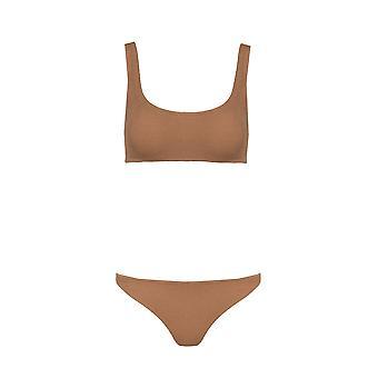 Paramidonna Ztpos07 Women's Bege Nylon Bikini