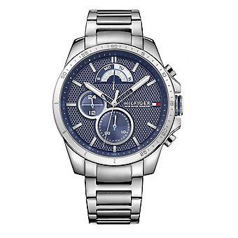 تومي هيلفيغر 1791348 Mens Silver سوار Wristwatch