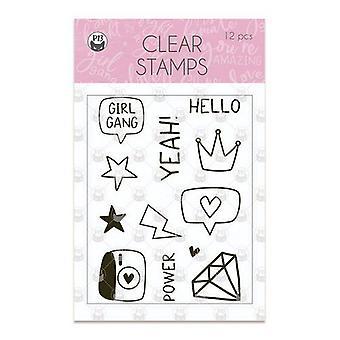 Piatek13 - Clear stamp set Girl Gang 01 P13-GRL-30