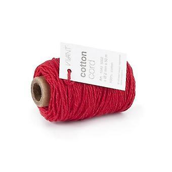 Vivant Cord Cotton fine red - 50 MT 2MM