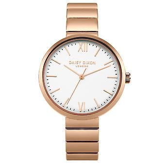 Daisy Dixon Ladies Womens Rose Gold and White Watch