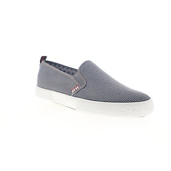 Ben Sherman Bristol Slip On  Mens Gray Canvas Sneakers Shoes