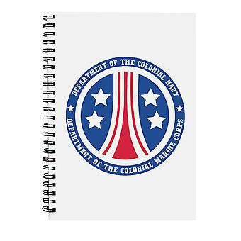 Alien Colonial Marine Corps Logo Spiral Notebook