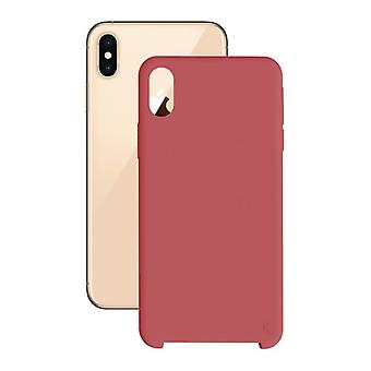 Mobile kansi Iphone Xs Max KSIX Pehmeä punainen