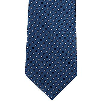 Michelsons of London Basic Neat Polyester Tie - Teal Blue
