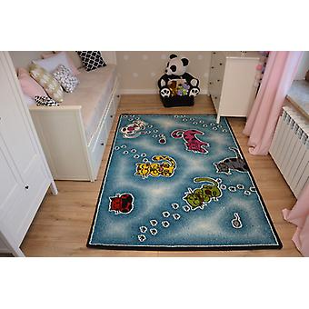 Rug KIDS Cats blue C428
