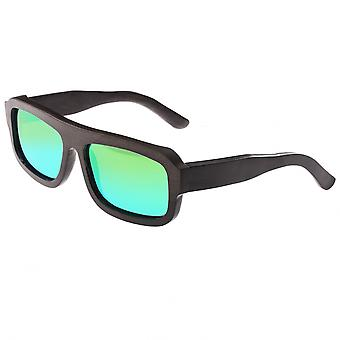 Earth Wood Daytona Polarized Sunglasses - Espresso/Green