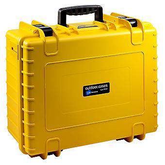 B&W Outdoor Case Typ 6000, Leer, Gelb