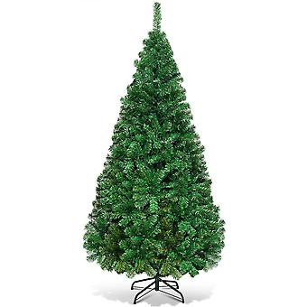 7FT CHRISTMAS X'MAS DECORATION TREE PINE WITH STAND GREEN TREES FESTIVAL New