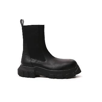 Rick Owens Ru20f3899lca99 Men's Black Leather Enkellaarsjes