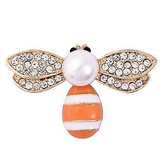 TJC Bee Brosje for kvinner svart krystall hvit krystall, plast perle